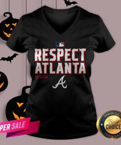 Atlanta Braves Fanatics Branded Navy 2020 Postseason Locker Room V-neck