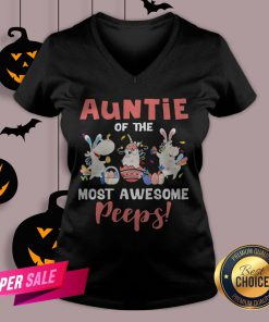 Auntie Of The Most Awesome Peeps V-neck