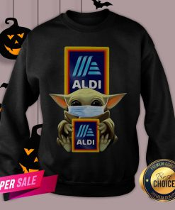 Baby Yoda Face Mask Hug Aldi Sweatshirt