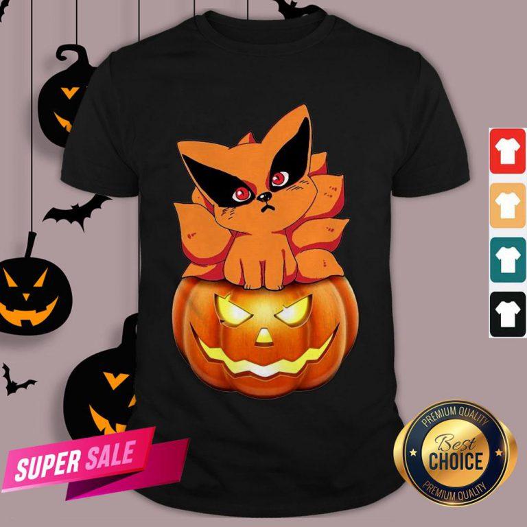Chibi Kurama Naruto Pumpkin Halloween Shirt