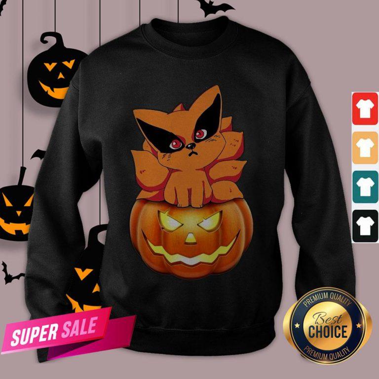 Chibi Kurama Naruto Pumpkin Halloween Sweatshirt