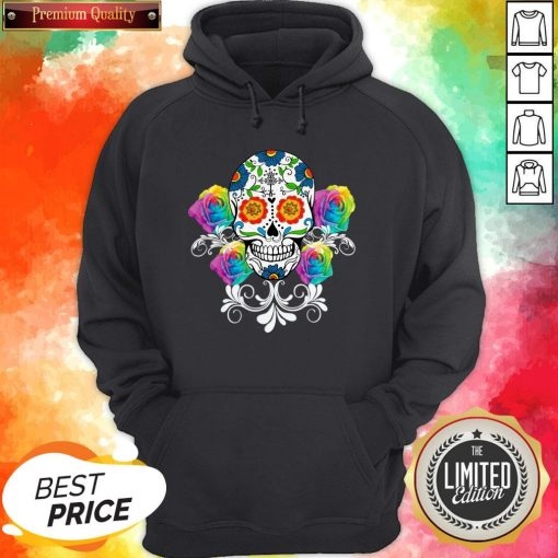 Colorful Day Of The Dead Sugar Skulls Pullover Hoodie
