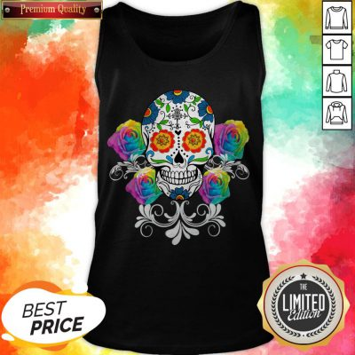 Colorful Day Of The Dead Sugar Skulls Pullover Tank Top