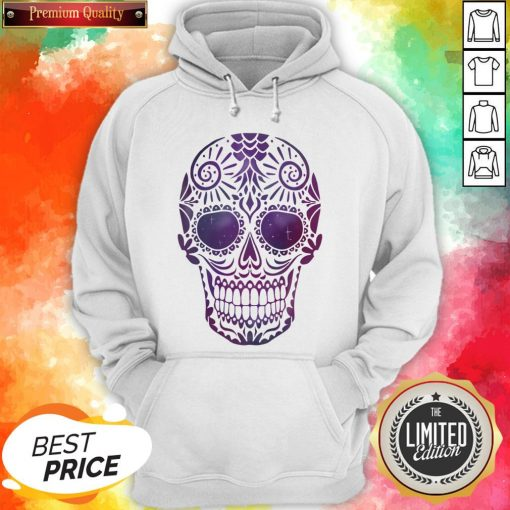 Day Of The Dead Sugar Skull In Space Hoodie