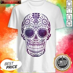 Day Of The Dead Sugar Skull In Space Shirt
