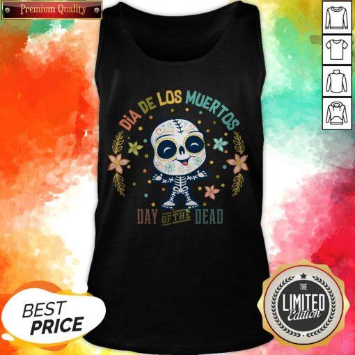 Dia De Los Muertos - Day Of The Dead Cute Sugar Skull Tank Top