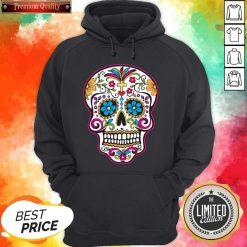 Dia De Los Muertos Sugar Skull In Mexican Hoodie
