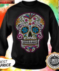 Dia De Los Muertos Sugar Skull In Mexican Sweatshirt