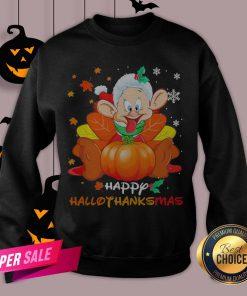 Dwarfs Sleepy Pumpkin Happy Hallothanksmas Sweatshirt