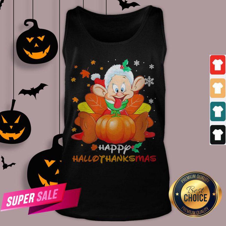 Dwarfs Sleepy Pumpkin Happy Hallothanksmas Tank Top