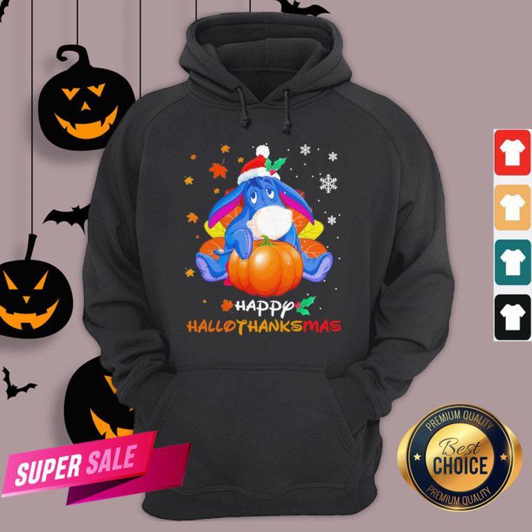 Eeyore Pumpkin Happy Hallothanksmas Hoodie
