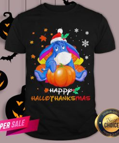 Eeyore Pumpkin Happy Hallothanksmas Shirt