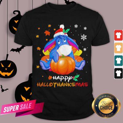 Eeyore Pumpkin Happy Hallothanksmas Shirt