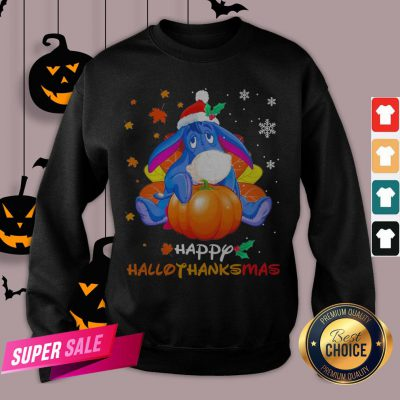 Eeyore Pumpkin Happy Hallothanksmas Sweatshirt