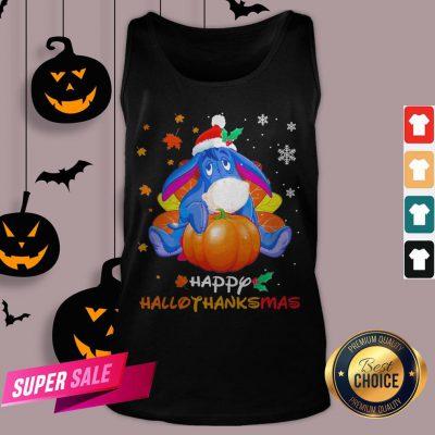 Eeyore Pumpkin Happy Hallothanksmas Tank Top