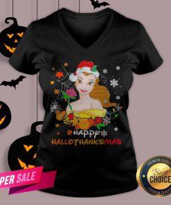 Funny Belle Happy Hallothanksmas V-neck