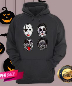 Horror Movie Character Faces Halloween Hoodie