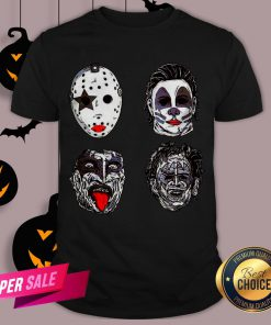 Horror Movie Character Faces Halloween Shirt
