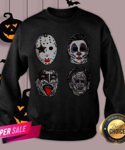 Horror Movie Character Faces Halloween Sweatshirt