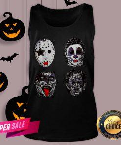 Horror Movie Character Faces Halloween V-neck