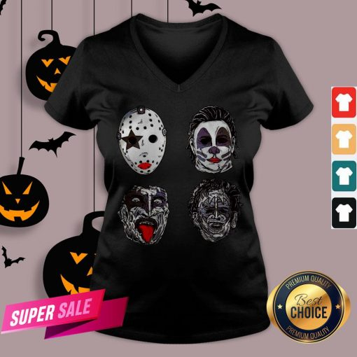 Horror Movie Character Faces Halloween Tank Top