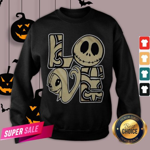 Love Jack Skellington And Sally Sweatshirt