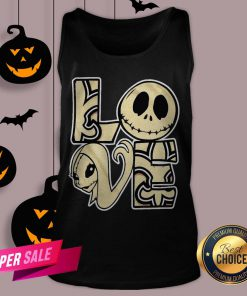 Love Jack Skellington And Sally Tank Top