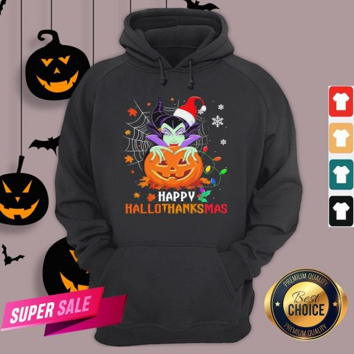 Maleficent Pumpkin Happy Hallothanksmas Hoodie