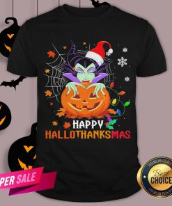 Maleficent Pumpkin Happy Hallothanksmas Shirt