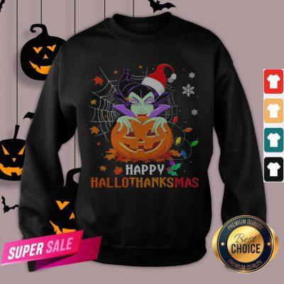 Maleficent Pumpkin Happy Hallothanksmas Sweatshirt