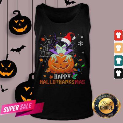 Maleficent Pumpkin Happy Hallothanksmas Tank Top