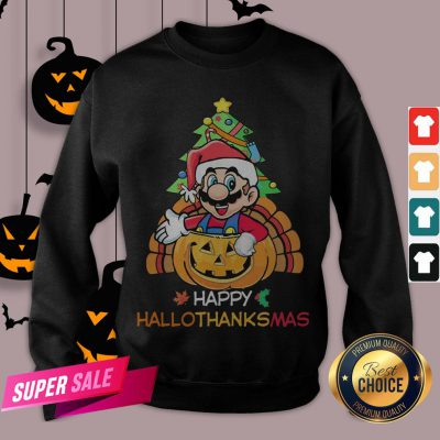Mario Segale Happy Hallothanksmas Sweatshirt