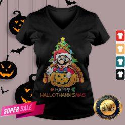 Mario Segale Happy Hallothanksmas V-neck