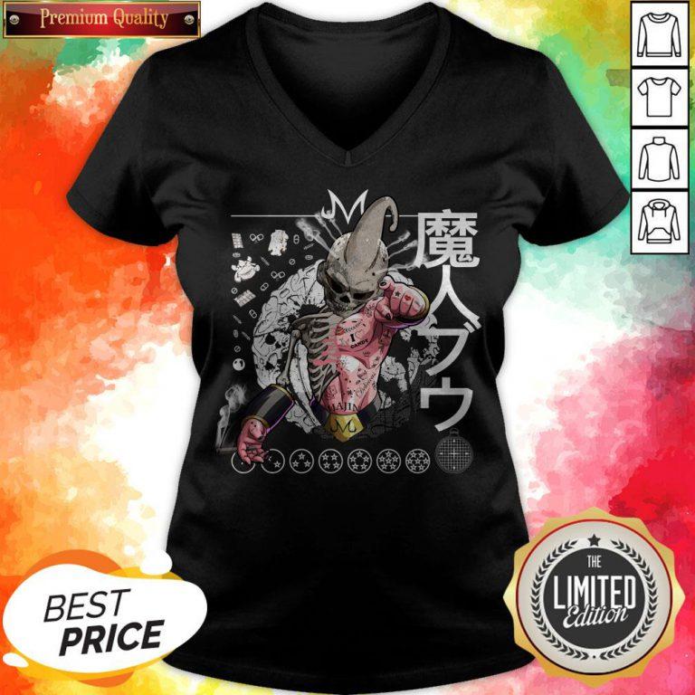 Nice Kid Buu Majin Skull Dragon Ball Bu Vegeta Goku V-neck