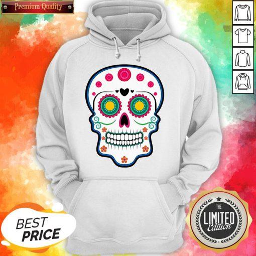 Official Sugar Skull Day Of Dead Dia De Los Muertos Hoodie