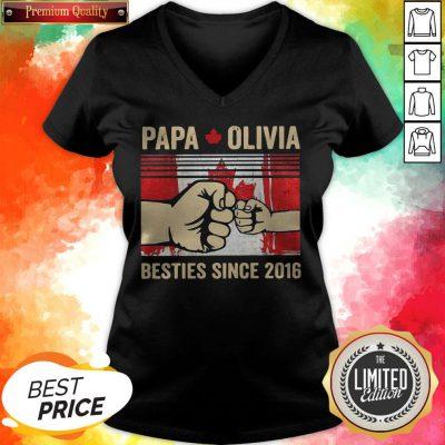 Papa Olivia Besties Since 2016 V-neck