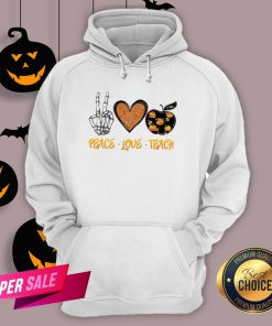 Peace Love Teach Halloween Classic T-Hoodie