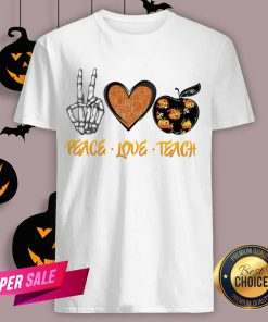 Peace Love Teach Halloween Classic T-Shirt