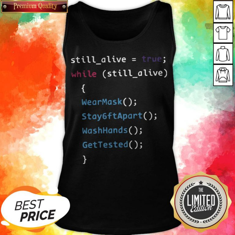 Programming Function Humor While Still Alive Tank Top