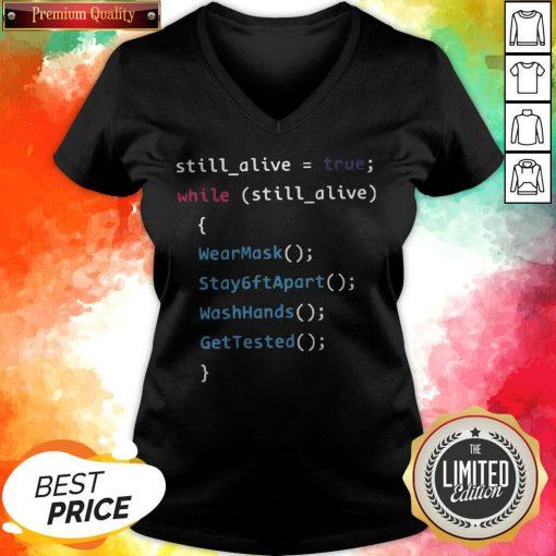 Programming Function Humor While Still Alive V-neck