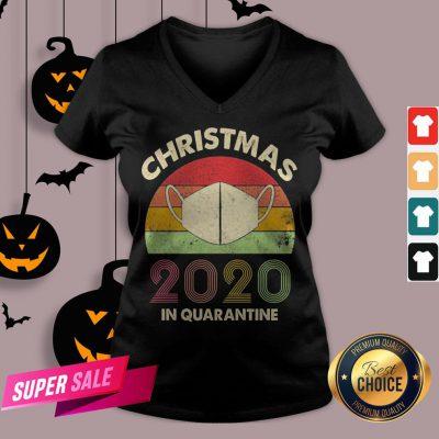 Quarantine Christmas 2020 Covid V-neck