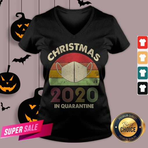 Quarantine Christmas 2020 Covid V-neck