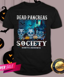 Skull Witch Dead Pancreas Society Diabetes Classic T-Shirt