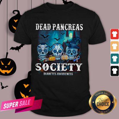 Skull Witch Dead Pancreas Society Diabetes Classic T-Shirt