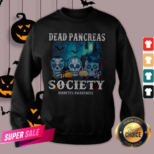 Skull Witch Dead Pancreas Society Diabetes Classic T-Sweatshirt