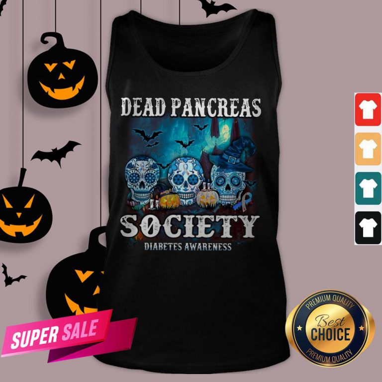 Skull Witch Dead Pancreas Society Diabetes Classic T-Tank Top