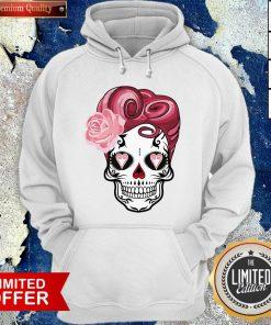 Sugar Bubblegum Pinup Skulls Day Of The Dead Dia De Muertos Hoodie