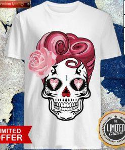 Sugar Bubblegum Pinup Skulls Day Of The Dead Dia De Muertos Shirt