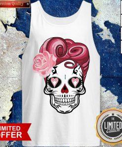 Sugar Bubblegum Pinup Skulls Day Of The Dead Dia De Muertos Tank Top