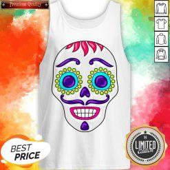 Sugar Skull Day Dead Dia De Los Muertos Tank Top